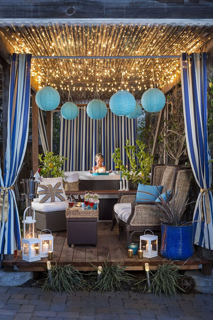 decorated patio photo by Carrie D. Mader